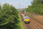 ECR 77 040 mit GA 49231 (Villers-Cotterêts) Forbach/F - Mannheim Rbf Gr.M (Sdl.leere Wagen), Saarbrücken 26.07.14