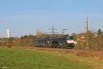 Tfzf(D) 94522 Göttelborn - Wemmetsweiler mit 185 554 + 185 553 , Abholung zweiter Teil vom Kohlezug in Wemmetsweiler