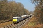 ECR 186 173 mit XP 49248 Hüls AG - Creutzwald am 13.03.14 in Saarbrücken Deutschmühlental