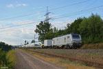 BB37006 mit DbZ 44428 Rheydt - Forbach/F (Mulhouse) (Sdl.Überführung Eurostar 374006/374005) , Ensdorf 15.06.14