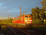 151 029 wartet auf die Bereitstellung von GM 62842 nach Mülheim-Styrum, Dillingen Hütte 21.10.14