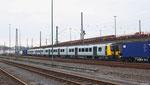 zur Überführung nach  Großbritannien steht in Saarbrücken Hgbf zwei British Rail Class 350/4 (403 und 402) Desiro für die Strecke  Flughafen Manchester - Glasgow / Edinburgh (Transpennine Express)