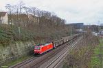 185 037 mit EZ 44226 Saarbrücken Rbf West - Les Aubrais-Orléans/F (EV ,Tiernahrung), Saarbrücken 22.12.14