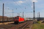 185 030 mit GC 44410 Forbach/F - Duisburg Ruhrort Hafen (Sdl.Ethanol) , Einfahrt Saarbrücken Rbf am 22.06.14