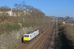 186 345 mit GA 48240 Einsiedlerhof - Irun/E , 12.03.14 Güterumfahrung Saarbrücken
