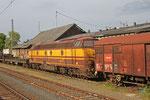 CFL Cargo 1805 wartete in Ehrang auf die Überführung nach Luxemburg