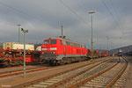 Sonntag Morgen (16.03.14) 218 009 als Rangierlok im Güterbahnhof Saarbrücken West (Sdl. R3 Lrf Ersatz)