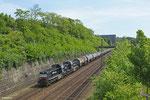 CFL 1585 + 1586 mit DGS 83776 nach Bettembourg/L (Umleiter , Sdl.EKW) , Güterumfahrung Saarbrücken 05.05.14