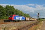 SBB Cargo 482 030 (i.E. für HSL-Logistik) mit DGS 95246 Saarbrücken Rbf Nord - Beddingen VPS (Sdl.Stahl) , Ensdorf 15.06.14