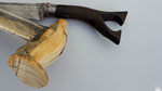 Item #W0124 sikin peusangan atjeh aceh achenese klewang silver scabbard hulu ivory ivoor