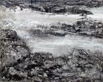 Nonchalance entre les rochers 50x60