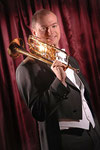 Marc Bühler mit seiner Josef Monke B Trompete