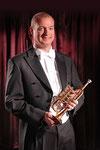 Marc Bühler mit seiner Scherzer A / B Piccolo Trompete