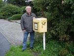 Der am tiefsten gelegene Briefkasten Deutschlands in Glücksstadt, 3,5 m unter NN. September 2010