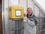 Der höchstgelegene Briefkasten Deutschlands auf der Zugspitze, 2006.
