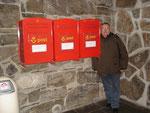 Die nördlichsten Briefkästen Europas am Nordkap, Norwegen, 2010.