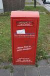 Briefkasten der privaten Nordbayernpost in Nürnberg. Vielen Dank an Maik Schönefeld!
