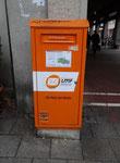 Briefkasten des privaten LMF Postservice in Augsburg. Vielen Dank an Maik Schönefeld!
