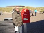 Der nördlichste Briefkasten Dänemarks in der Nähe des Skagerrak im September 2010.