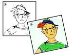 Fiktive Comic Figur für Kinderbuch