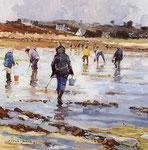 Pêcheurs à pied à Toëno - 65 x 54