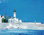 Marine - Huile sur toile - 40F (100 x 81 cm)