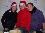 Annemarie, Barbara & Theresa aus der A-Gruppe waren auch fleißig.