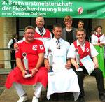 Die Sieger der Bratwurstmeisterschaft. PR-Unterstützung für die Mitgliedsbetriebe. Foto: Helga Karl