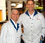 Inhaber/GF der Genz OHG Michael Rakette und Markus Genz, IGW 2006 bei einer PR-Landjuwelaktion