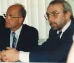 Bei der Pressekonferenz: Firmeninhaber Otto Schleicher neben Bürgermeister Hauff