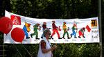 """""""Wehrt euch !"""" Transparent der IG Metall beim 1.Mai. Foto: Helga Karl"""