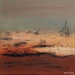 Abstrakte Landschaft I, Mischtechnik auf Leinwand, 20 x 20 cm, 2014