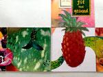2. Grüne Kürbisschale und Ananas