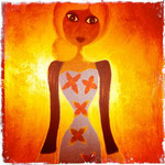 Parce qu'elle mérite la lumière (sur bois, 50x70) © Saëlle Knupfer, 2013