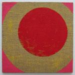 「Circle 1」  80.3 × 80.3 cm      合成樹脂塗料・ジュート麻・木製パネル:synthetic resin coating, jute hemp, wood panel