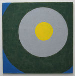 「Circle 2」  80.3 × 80.3 cm      合成樹脂塗料・ジュート麻・木製パネル:synthetic resin coating, jute hemp, wood panel