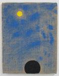 「Faraway」  40.9 × 31.8 cm      合成樹脂塗料・ジュート麻・木製パネル:synthetic resin coating, jute hemp, wood panel