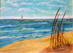 Strand, Wachsfarbstifte