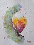 Herz, Aquarell