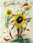 Sonnenblumen, Aquarell, VERKAUFT