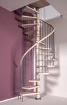 Columbia escalier en spirale avec marche supplémentaire