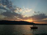 Zürichsee mit Üetliberg im Hintergrund