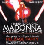 VENERDI 23 GIUGNO MADONNA A CELEBRATION IN ROME