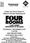FOUR ROOM TICKET VERSO
