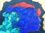 無題150805 アクリル、キャンバス 24.2×33.3cm