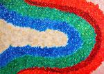 三色の虹 アクリル、キャンバス 53×72.7cm