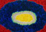 太陽 #3 アクリル、キャンバス 15.8×22.7cm