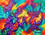 無題141122 アクリル、オイルパステル、キャンバス 31.8×41cm