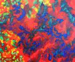 Nature #15 アクリル、アブソルバン、キャンバス 38×45.5cm