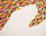 色彩の波 アクリル、キャンバス 31.8×41cm